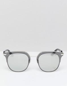 Солнцезащитные очки в квадратной серебристой оправе Police - Серебряный