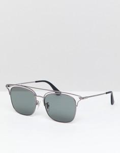 Черные солнцезащитные очки в стиле ретро Police - Черный