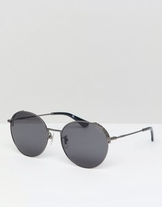 Круглые солнцезащитные очки Police - Черный