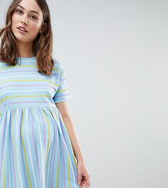 Свободное платье в полоску ASOS DESIGN Maternity - Мульти