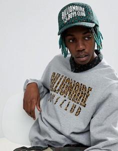 Зеленая кепка с леопардовым принтом Billionaire Boys Club - Зеленый