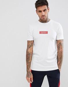 Белая обтягивающая футболка boohooMAN - Белый