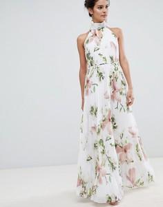 Плиссированное платье макси с цветочным принтом Ted Baker - Мульти