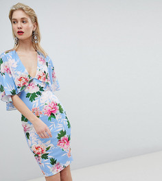 Платье мини с глубоким вырезом Flounce London - Мульти