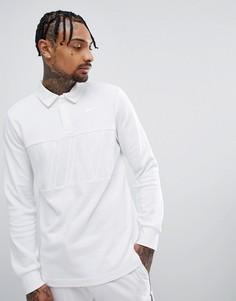 Белая футболка-поло с длинными рукавами Nike SB 885847-100 - Белый