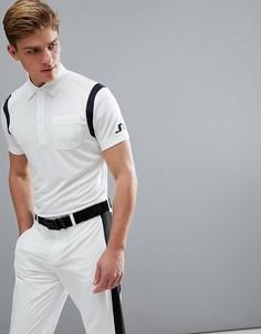 Белая футболка-поло узкого кроя J.Lindeberg Golf Dolph TX - Белый
