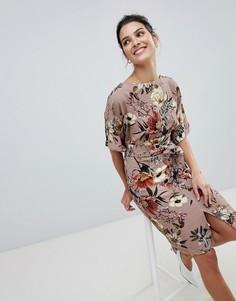 Платье с разрезом Closet - Красный
