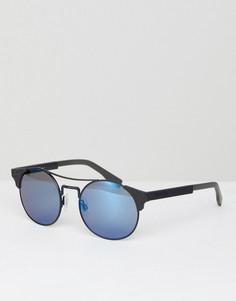 Круглые солнцезащитные очки Boss Orange - Черный