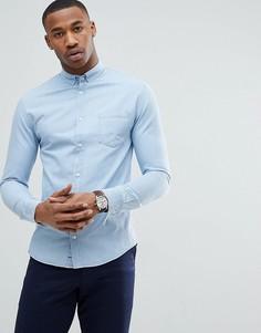 Рубашка с длинными рукавами из джинсового твила Konstradt - Синий Kronstradt