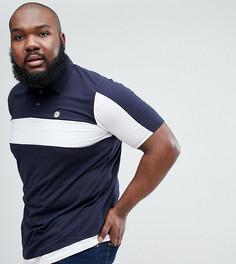 Однотонная футболка-поло Le Breve Plus - Темно-синий