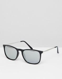 Черные квадратные солнцезащитные очки 7x - Черный
