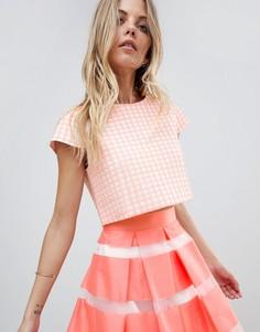Свободная футболка с принтом Vesper - Розовый