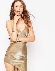 Асимметричное платье‑сорочка в стиле 90‑х Tiger Mist Petite - Бежевый