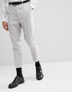 Серые зауженные брюки ASOS - Серый