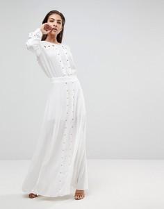 Платье макси с разрезом Finders Keepers Maddox - Белый