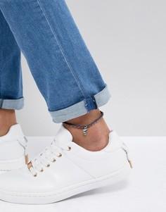 Синий браслет на ногу с подвеской-черепом Classics 77 - Синий