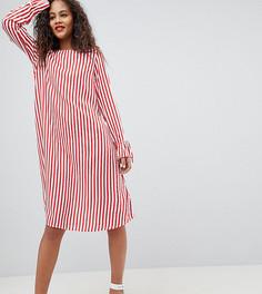 Платье в полоску Y.A.S Tall Trey - Красный