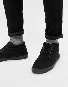 Черные парусиновые ботинки чукка ASOS DESIGN - Черный