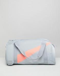 Серо-розовая спортивная сумка Nike - Серый