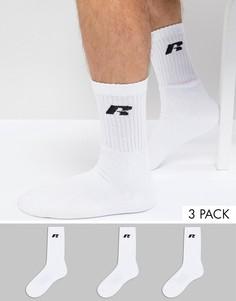 3 пары спортивных носков Russell Athletic - Белый