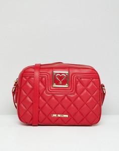 Стеганая сумка через плечо Love Moschino - Красный