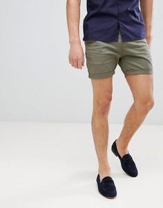 Хлопковые шорты чиносы Process Black - Зеленый