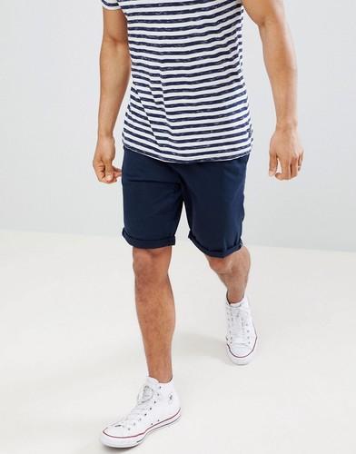 Синие шорты чиносы узкого кроя Tom Tailor - Синий