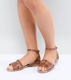 Кожаные туфли для широкой стопы Park Lane - Рыжий