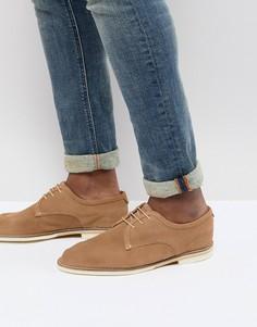 Замшевые туфли песочного цвета со шнуровкой H By Hudson Andover - Светло-бежевый