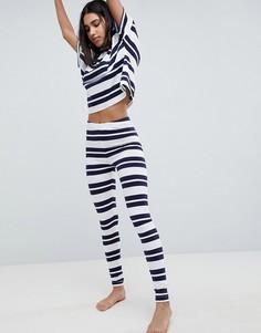 Пижамный комплект с футболкой в широкую полоску и леггинсами ASOS DESIGN - Мульти