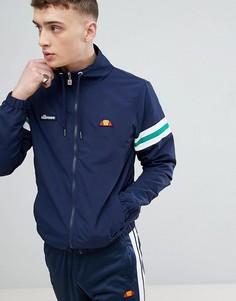 Темно-синяя куртка с полосками на рукавах ellesse - Темно-синий