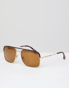 Золотистые солнцезащитные очки-авиаторы Carrera - Золотой