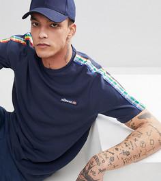 Темно-синяя футболка с отделкой в стиле колор блок ellesse - Темно-синий