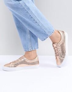 Кроссовки на шнуровке ASOS DESIGN - Золотой