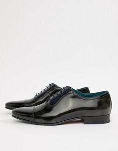 Блестящие кожаные оксфордские туфли Ted Baker Karneyh - Черный