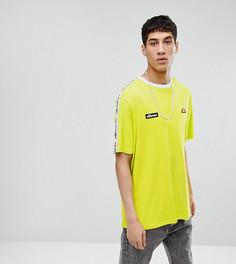 Зеленая oversize‑футболка с отделкой кантом ellesse - Зеленый