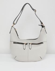 Сумка на плечо с молнией Yoki Fashion - Серый