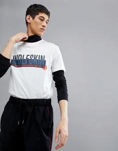 Белая футболка с надписью Jack Wolfskin - Белый