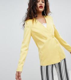 Комбинируемый блейзер свободного кроя Fashion Union Tall - Желтый