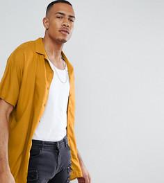Оверсайз-рубашка горчичного цвета из вискозы ASOS DESIGN Tall - Желтый