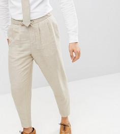 Широкие брюки из ткани на основе льна Heart & Dagger - Светло-бежевый