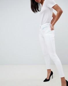 Моделирующие джинсы скинни укороченного кроя Salsa Push In Secret - Белый