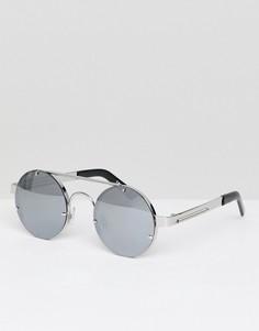Круглые солнцезащитные очки с зеркальными стеклами Spitfire - Серебряный