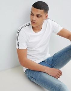 Премиум-футболка с полосками на рукавах Jack & Jones - Белый