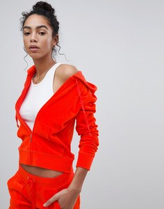 Худи из велюра Juicy Couture Black Label - Красный