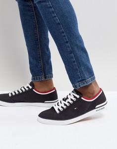 Темно-синие парусиновые кроссовки Tommy Hilfiger - Темно-синий
