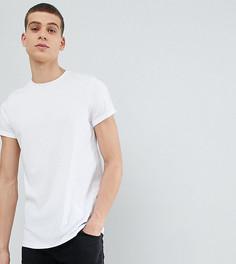 Белая футболка с отворотами на рукавах ASOS DESIGN TALL - Белый