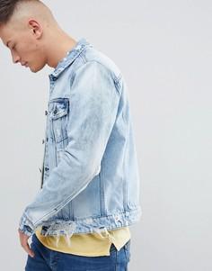 Синяя выбеленная джинсовая куртка Only & Sons - Синий
