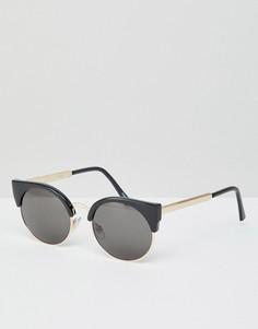 Черные солнцезащитные очки кошачий глаз Monki - Черный