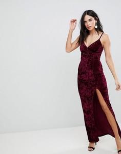 Платье макси с разрезом AX Paris - Фиолетовый